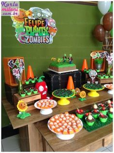 Plants Vs Zombies Themed Birthday Party