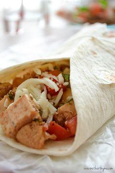 Bruschetta Chicken Salad Wraps Recipe
