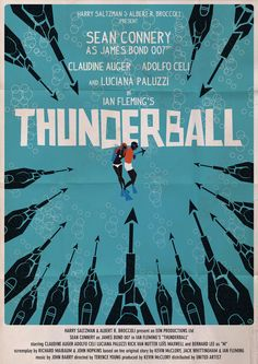 James Bond - Thunderball alternate movie poster - Sidcup Mayfair's favourite all time classic