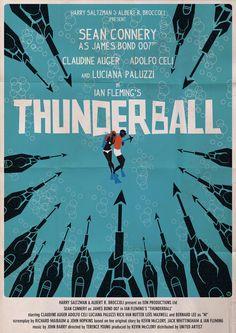 'Thunderball' minimalist movie poster (artwork by Alain Bossuyt)
