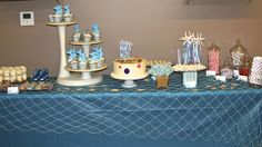 All of the sweets on our undersea dessert table were enhanced with adorable Mermaid Printable Labels from Marley Design (on Etsy)
