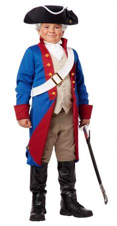 Ben Franklin Child Costume Explorer Historical Pioneer Jacket Boys Old Americana