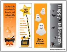halloween bookmarks printable for kids free - Halloween Book Marks
