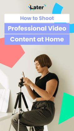 How to Set Up a Video Recording Studio at Home on a Budget - Later Blog Social Media Trends, Social Media Channels, Social Media Management Tools, Video Studio, Studio Studio, Instagram Influencer, Influencer Marketing, Recording Studio, Video Photography