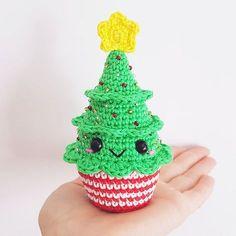 Christmas Cupcakes PDF Pattern crochet amigurumi