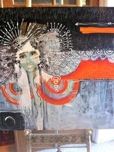 mixed media by Anahata Katkin. It would be awesome to have one of her originals