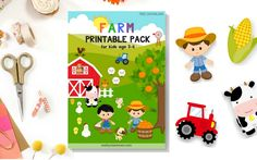 Download this Farm Printable Pack for kids age 3 to 6 (Pre-K, K1 and K2). Comprised of 18 pages full colours printables to make learning more fun!
