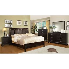 Furniture of America Rafael Contemporary 4-Piece Bedroom Set - Overstock™ Shopping - Big Discounts on Furniture of America Bedroom Sets
