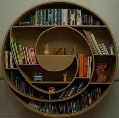 spiral shelf. Made of cardboard