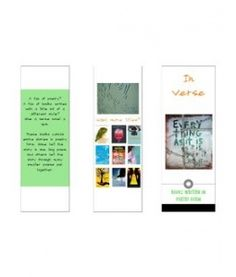 Books in verse (trifold, printable)