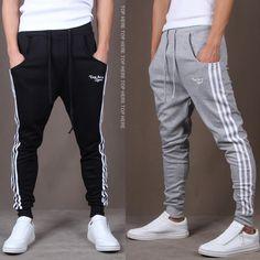 New Fashion Tracksuit Bottoms Mens Casual Pants - Men's style, accessories, mens fashion trends 2020 Harem Sweatpants, Jogger Pants, Cargo Pants, Men's Pants, Fashion Pants, New Fashion, Fashion Casual, Fashion 2015, Drop Crotch Pants Men