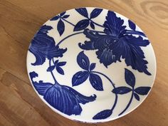 Rare BLUE FANTASY Bread and Butter Plates made by Homer Laughlin 1938, Limited China Pattern, COLLECTIBLE!
