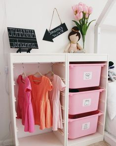 Dress up clothes organization, Montessori wardrobe, ikea hack, trofast hack, lif. - Ikea DIY - The best IKEA hacks all in one place Kids Wardrobe Storage, Kids Clothes Storage, Dress Up Storage, Diy Wardrobe, Kid Toy Storage, Capsule Wardrobe, Bedroom Wardrobe, Organize Kids Clothes, Ikea Kids Wardrobe