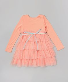 Another great find on #zulily! Pink Ruffle Tiered Dress - Infant, Toddler & Girls #zulilyfinds