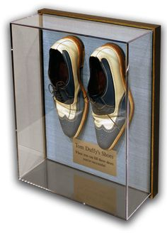 the framers workshop berkeley ca tom duffy shoes in an acrylic box and floater frame