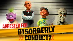 """For we dug out the show opening video from Jeff's 2013 tour, """"Disorderly Conduct"""", when the guys found themselves on the wrong side of the law! Check o. Jeff Dunham Videos, Howie Mandel, Comedy Specials, New Comedies, Family Love, Comedians, Funny Pictures, Hilarious, Jokes"""