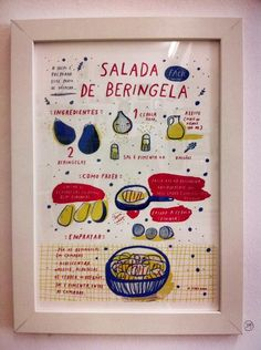 "For lunch ""salada de beringela"" by Yara Kono"