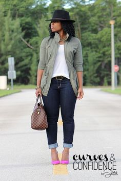 | Hat – F21 | Jacket – F21 | Tank – H&M | Jeans – Oldnavy | Pumps – BCBG |  In the past I have not been a fan of Old Navy jeans or pants, see this post. There is always an …