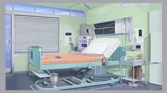 Hospital room 1 by Aleksey Petruk on ArtStation. Episode Interactive Backgrounds, Episode Backgrounds, Anime Backgrounds Wallpapers, Cute Backgrounds, Hospital Anime, Hospital Room, Aesthetic Art, Aesthetic Anime, Kitchen Background