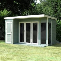 10 x 8 Waltons Contemporary Garden Room Wooden Summer House with Side Shed