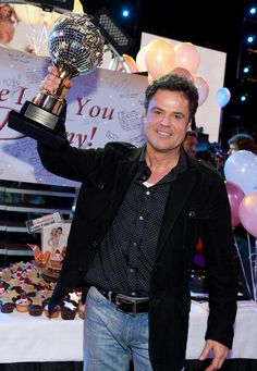 Donny Osmond and his Dancing With The Stars trophy