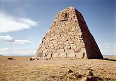 The Ames Monument is a large pyramid in Albany County, Wyoming, designed by Henry Hobson Richardson and dedicated to brothers Oakes Ames and Oliver Ames, Jr., Union Pacific Railroad financiers. The brothers garnered credit for connecting the nation by rail upon completion of the United States' First Transcontinental Railroad in 1869. At 8000 feet, it was and still is the highest railroad elevation in the US. Trains still regularly pass this spot. The Ames were from Boston, MA.