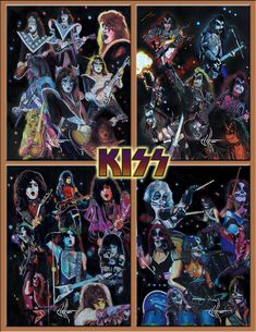 I did this a few years back after seeing the Last Samurai,which I thought was very good in the theater.I did his face but kind of gave up on it and pastelled the background.the black lines wer. Kiss Images, Kiss Pictures, Band Pictures, Rock And Roll Bands, Rock N Roll, Kiss Group, Kiss Music, Art Music, The Last Samurai