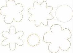 Resultado de imagen para moldes de flores para imprimir