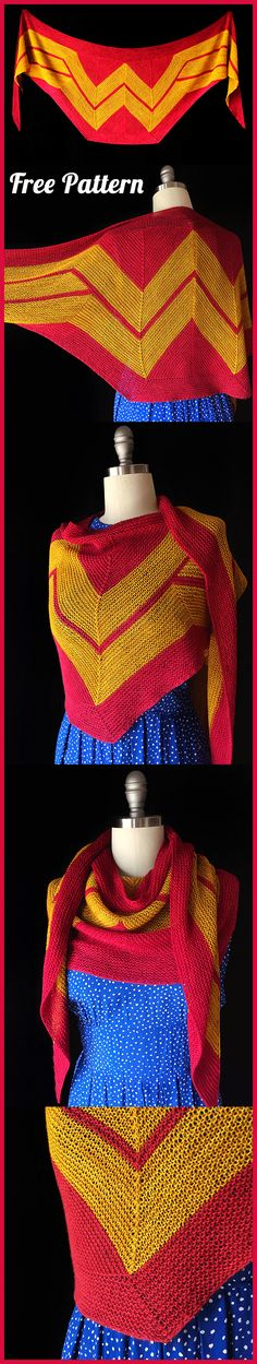 Shawl Wonder Woman Wrap Crochet and Knitting