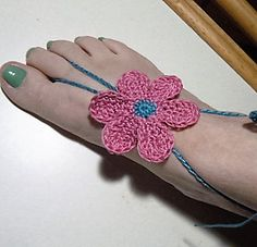 Free pattern Groovy Flower Power throwback barefoot sandals. Go forth and be hippie!