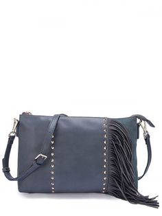 GET $50 NOW | Join RoseGal: Get YOUR $50 NOW!http://www.rosegal.com/crossbody-bags/pu-leather-fringe-rivet-crossbody-709612.html?seid=3185995rg709612