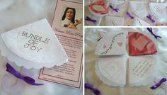 Umbrella invitations with novena card