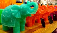 Dubai elephants in fancy colors@bloomingdales