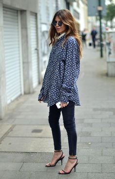 printed top and skinny denim Curvy Women Fashion, Womens Fashion For Work, Maja Why, Style Me, Autumn Fashion, Street Style, Street Chic, Style Inspiration, Style Ideas