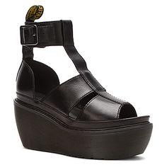Chunky ankle strap platform sandal Dr Martens, Bessie black brando Schwarze  Sandalen, Fesselriemchen, 40b3bbbdb9