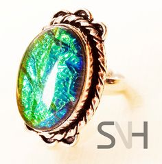 SNH  Handmade BLue Green Azurmalachite Ring by SNHJewels on Etsy