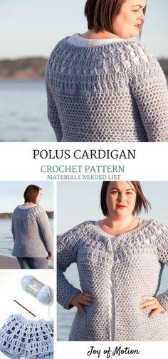 Polus Cardigan Materials Needed - Cardigan Crochet Pattern. Crochet Pattern for Her. Woman's Crochet Cardigan. #crochetcardigan #crochetpattern #cardigancrochetpattern #crochet #crochetpatternforher