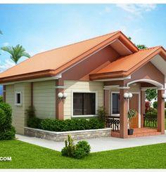 Simple Bungalow House Designs, Modern Bungalow House, Simple House Design, Bungalow House Plans, Minimalist House Design, Two Bedroom House Design, Philippines House Design, Modern Bungalow Exterior, House Construction Plan