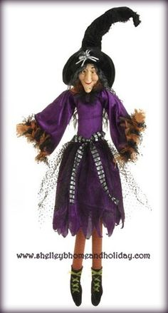 Shelley B Home and Holiday - RAZ Halloween 37 inch Posable Sitting Witch in Purple Dress, $92.00 (http://shelleybhomeandholiday.com/raz-halloween-37-inch-posable-sitting-witch-in-purple-dress/)
