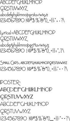 Prairie school lettering