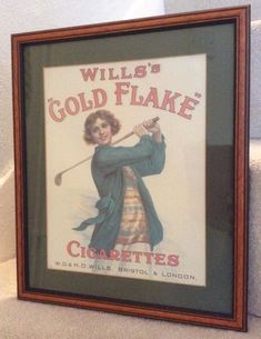 VINTAGE WILLS'S GOLD FLAKE CIGARETTES ADVERT FRAMED PRINT 1920s REPRO RETRO ART  | eBay