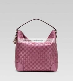 Gucci Heart Bit Medium Hobo Metallic Fresia Rose 269958 AHB1G 5517