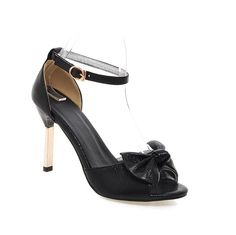 WeenFashion Women's Soft Material Buckle Peep Toe High-Heels Solid Heeled-Sandals -- You can find more details by visiting the image link.