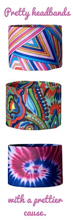 Pretty Headbands with a Prettier Cause.  Headbands of Hope