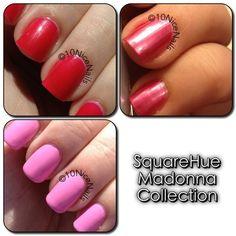 SquareHue Madonna collection (pink nail polish)