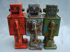 Vintage Rusty Robots