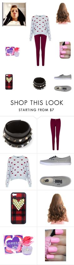 """Having a fun day with Matthew"" by nikolestyles ❤ liked on Polyvore featuring Valentino, Oasis, Topshop, Vans and Justin Bieber"