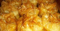 ατομικά γαλακτομπούρεκα πουγκάκια Greek Sweets, Greek Desserts, Mini Desserts, Greek Recipes, Lamb Recipes, Sweets Recipes, Candy Recipes, Snack Recipes, Cooking Recipes