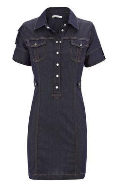 Karen Millen Denim Shirt Dress dark ,fashion Karen Millen Multicolor Dresses outlet