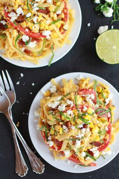 Summer Grilled Mexican Street Corn Fettuccine | halfbakedharvest.com